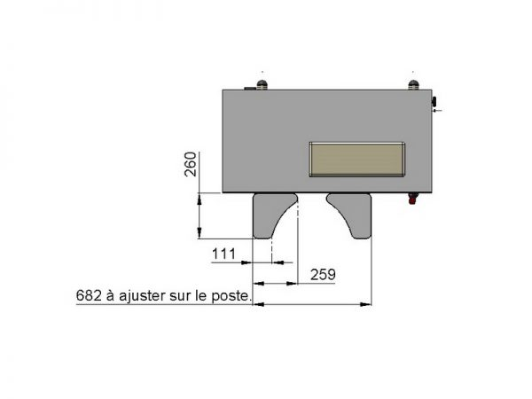 Paire d'appui coudes support universel - 1000269