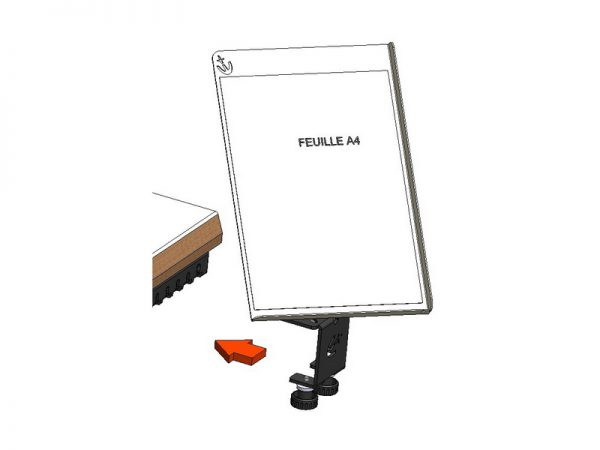 Tablette écritoire orientable support universel - 1000284