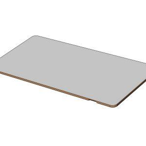 Plateau rectangulaire avec R50 stratifié